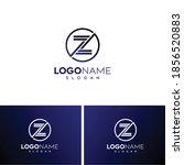 abstract letter z logo zz logo... | Shutterstock .eps vector #1856520883