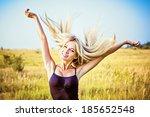 portrait of happy smiling... | Shutterstock . vector #185652548