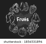 Fruit Hand Drawn Vintage...