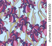seamless pattern of flowers and ...   Shutterstock .eps vector #1856533330