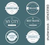 set of vintage styled design... | Shutterstock .eps vector #185653583