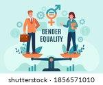 gender business equality.... | Shutterstock .eps vector #1856571010