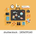 flat design style modern vector ... | Shutterstock .eps vector #185659160