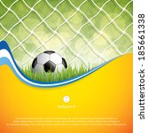 soccer ball on grass background.... | Shutterstock .eps vector #185661338