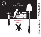 stop child labour and child... | Shutterstock .eps vector #1856614939