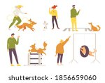 vector collection with dogs and ... | Shutterstock .eps vector #1856659060