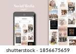 social media puzzle template...   Shutterstock .eps vector #1856675659