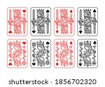 king and queen playing card... | Shutterstock .eps vector #1856702320