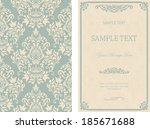 set of antique greeting cards ... | Shutterstock .eps vector #185671688