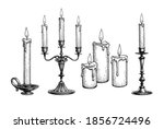 Candles Burning. Candelabra And ...
