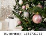 Christmas Decoration. Pink ...
