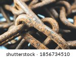 Rusty Chains On White...