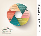 info graphic circle label design | Shutterstock .eps vector #185676236