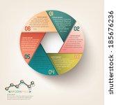 info graphic circle label design | Shutterstock .eps vector #185676236