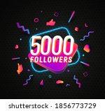 5000 followers celebration in... | Shutterstock .eps vector #1856773729