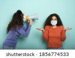 Woman Screams With Loudspeaker...