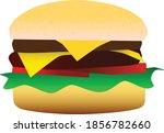 a delicious cheeseburger as a... | Shutterstock .eps vector #1856782660