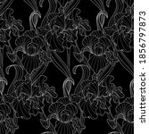 seamless pattern of flowers and ... | Shutterstock .eps vector #1856797873