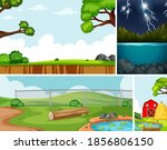 four different scenes in nature ... | Shutterstock .eps vector #1856806150