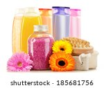 composition with plastic... | Shutterstock . vector #185681756
