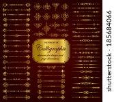 vector set of calligraphic... | Shutterstock .eps vector #185684066