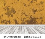 orange wall of old plaster and... | Shutterstock . vector #1856841136
