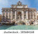 Trevi Fountain in Rome, Italy - stock photo