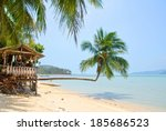 idyllic tropical beach with a... | Shutterstock . vector #185686523