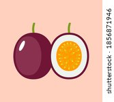passionfruit flat icon.... | Shutterstock .eps vector #1856871946