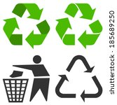 recycle symbol | Shutterstock .eps vector #185689250
