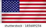 american flag   Shutterstock .eps vector #185689256