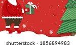 merry christmas greetings card... | Shutterstock .eps vector #1856894983