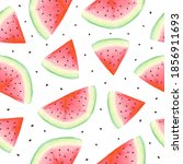 watercolor watermelon seamless... | Shutterstock . vector #1856911693