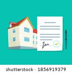 real estate contract vector or... | Shutterstock .eps vector #1856919379