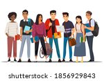 college or university students... | Shutterstock .eps vector #1856929843