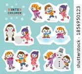 illustration of children... | Shutterstock .eps vector #1856950123