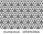 ornament with elements of black ... | Shutterstock . vector #1856963866
