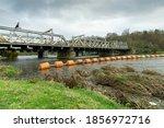 Steel Railway Bridge Across A...