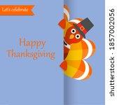 happy thanksgiving day festive...   Shutterstock .eps vector #1857002056