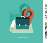 vector local business concept... | Shutterstock .eps vector #185700440