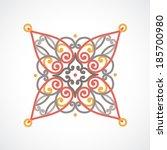 vector baroque ornament in east ... | Shutterstock .eps vector #185700980