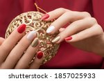 Christmas Nail Design. Female...
