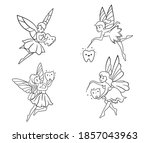 set of tooth fairies....   Shutterstock .eps vector #1857043963