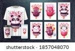 cartoon chracters   set ice... | Shutterstock .eps vector #1857048070
