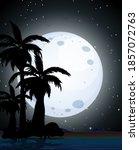 summer night scene silhouette...   Shutterstock .eps vector #1857072763