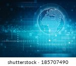 abstract techno backgrounds for ... | Shutterstock . vector #185707490