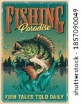 Fishing Vintage Colorful Poster ...