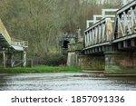 Two Railroad Bridges Crossing A ...