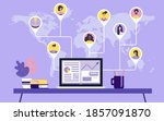 people from all over the world  ...   Shutterstock .eps vector #1857091870