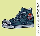 Large Toothed Shoe Illustration ...